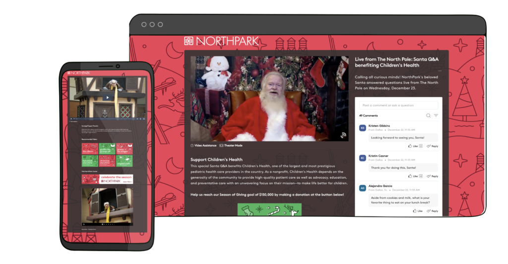 Virtual Santa's Workshop Raises $130,000 For Charity With Brandlive